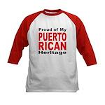 Proud Puerto Rican Heritage (Front) Kids Baseball