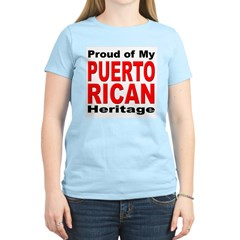 Proud Puerto Rican Heritage (Front) Women's Pink T