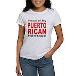 Proud Puerto Rican Heritage (Front) Women's T-Shir