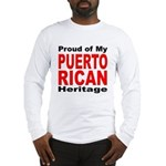 Proud Puerto Rican Heritage (Front) Long Sleeve T-
