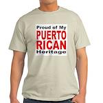 Proud Puerto Rican Heritage Ash Grey T-Shirt