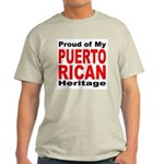 Proud Puerto Rican Heritage (Front) Ash Grey T-Shi