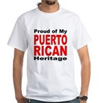 Proud Puerto Rican Heritage White T-Shirt
