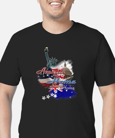 USA - Australia: Men's Fitted T-Shirt (dark)