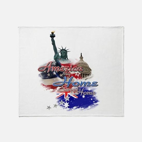 USA - Australia: Throw Blanket