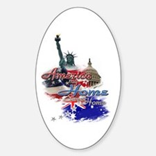USA - Australia: Sticker (Oval)