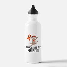 Orange Ribbon Friend Support Water Bottle