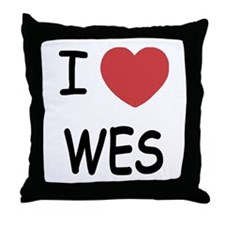 I heart WES Throw Pillow