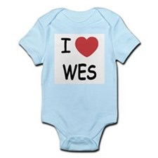 I heart WES Infant Bodysuit