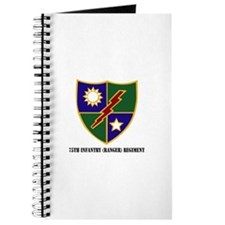 75th Infantry (Ranger) Regiment with Text Journal