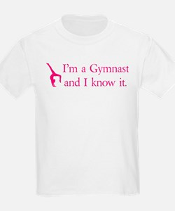 Im a Gymnast and I know it (pink) T-Shirt