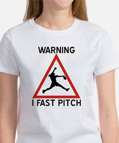 Warning I Fast Pitch Tee