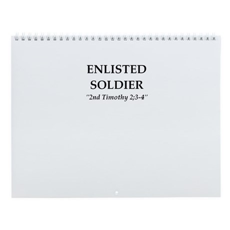 SOLDIER FOR CHRIST Wall Calendar