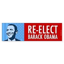 Blue Re-elect Obama Bumper Sticker