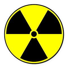 Radioactive sign1 Round Car Magnet