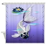 Silver Koi Shower Curtain