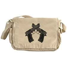 Crossed Guns Messenger Bag