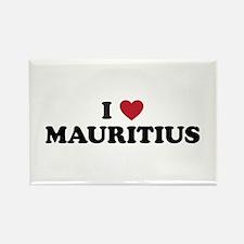 I love Mauritius Rectangle Magnet