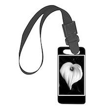 Black and White Calla Lily Luggage Tag