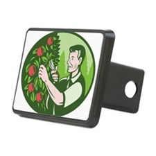 Horticulturist Farmer Pruning Fruit Hitch Cover