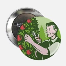 "Horticulturist Farmer Pruning Fruit 2.25"" Button"