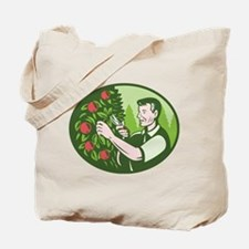 Horticulturist Farmer Pruning Fruit Tote Bag