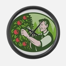 Horticulturist Farmer Pruning Fruit Large Wall Clo