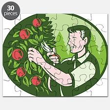 Horticulturist Farmer Pruning Fruit Puzzle