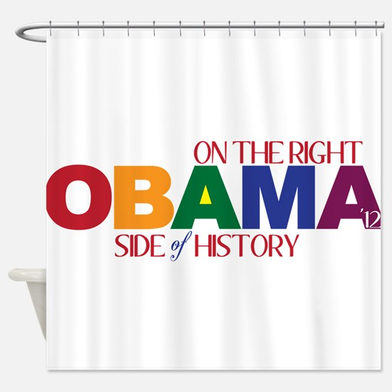 Obama 2012 Gay Marriage Shower Curtain