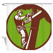 Arborist Tree Surgeon Trimmer Pruner Shower Curtai