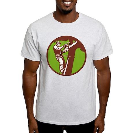 Arborist Tree Surgeon Trimmer Pruner Light T-Shirt