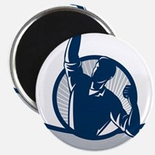 """Worker Pumping Fist Retro 2.25"""" Magnet (100 pack)"""