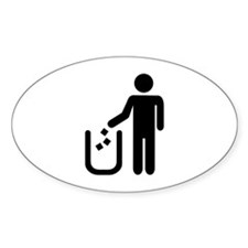 Litter waste garbage Decal