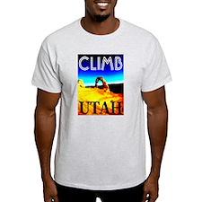 Climb Utah Ash Grey T-Shirt