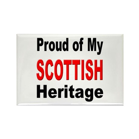 Proud Scottish Heritage Rectangle Magnet