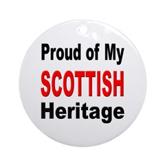 Proud Scottish Heritage Ornament (Round)
