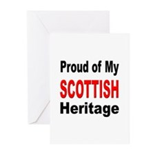 Proud Scottish Heritage Greeting Cards (Package of
