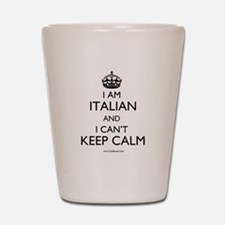 Cute Italian american Shot Glass