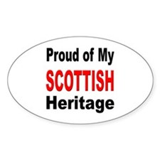 Proud Scottish Heritage Oval Decal