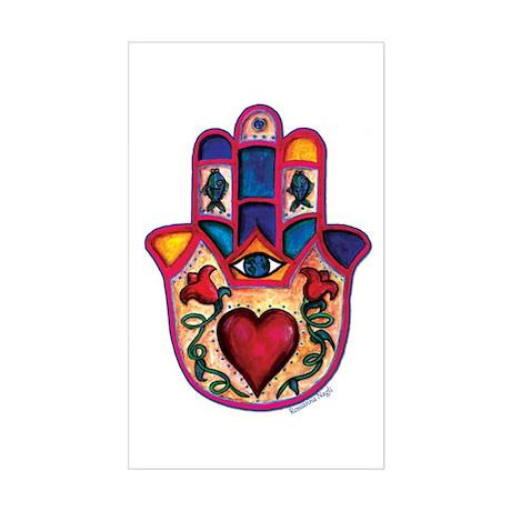 Heart Hamsa Sticker