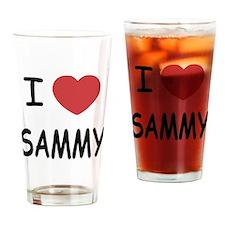 I heart SAMMY Drinking Glass