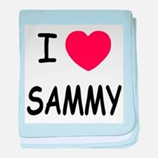 I heart SAMMY baby blanket