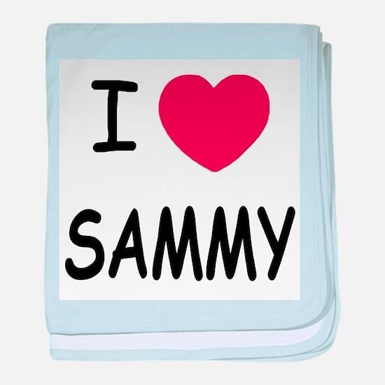 I heart SAMMY baby blanket