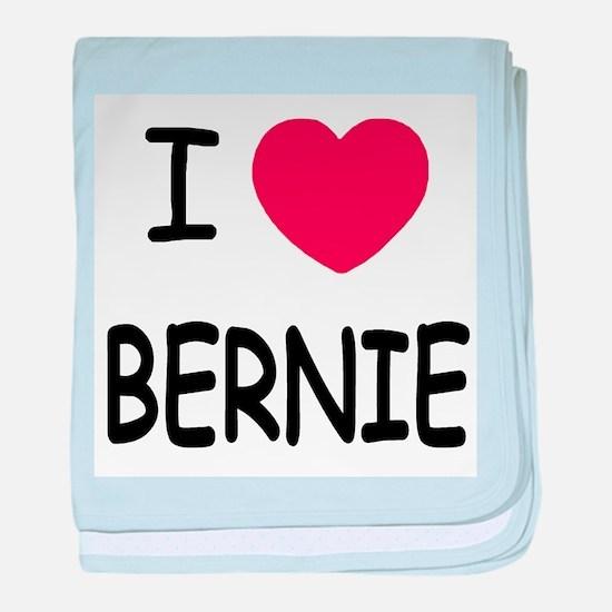 I heart BERNIE baby blanket