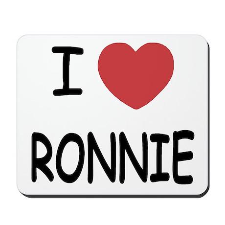 I heart RONNIE Mousepad
