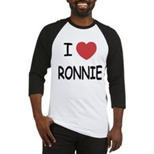 I heart RONNIE Baseball Jersey