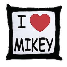 I heart MIKEY Throw Pillow