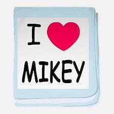 I heart MIKEY baby blanket