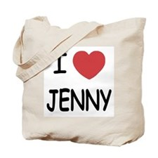 I heart JENNY Tote Bag
