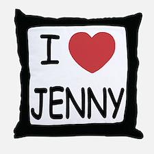 I heart JENNY Throw Pillow
